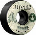 BONES 100's OG Formula 52×34 V4 Skateboard Wheel 100a 4pk Black