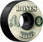 BONES 100's OG Formula 53×34 V4 Skateboard Wheel 100a 4pk Black